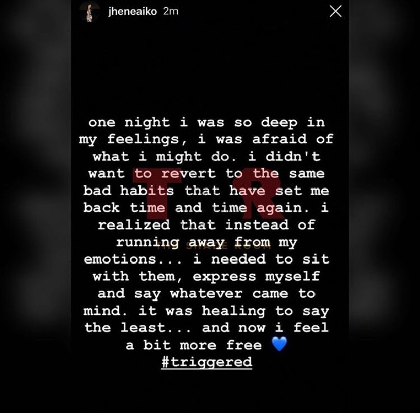 "Jhene Aiko's explanation on her song ""Triggered"" which is part inspiration for my poem."