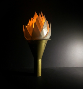Painted Paper, Board Torch Light