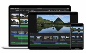 iMovie on iPad, iPhone, and MacBook