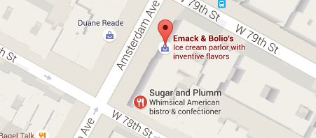 Map of the two dessert locations