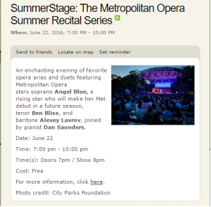 Summer Stage Opera