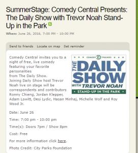 Summer Stage Trevor Noah