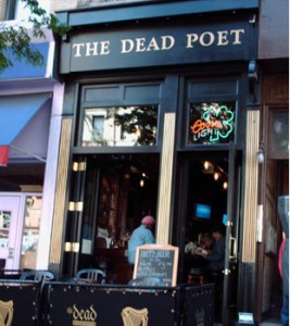 The front of the dead poet