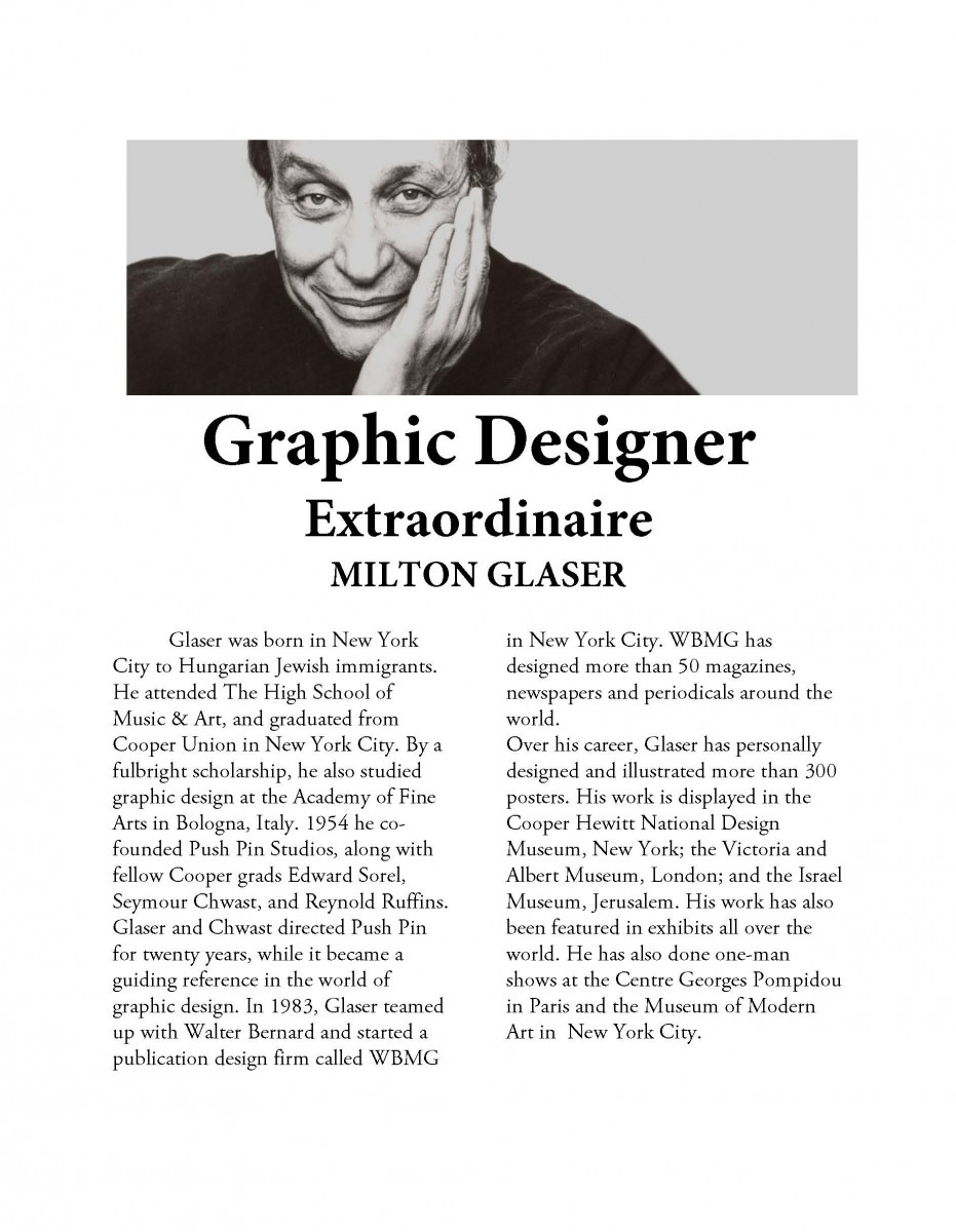 research project graphic designer profile - Graphic Artist Profile