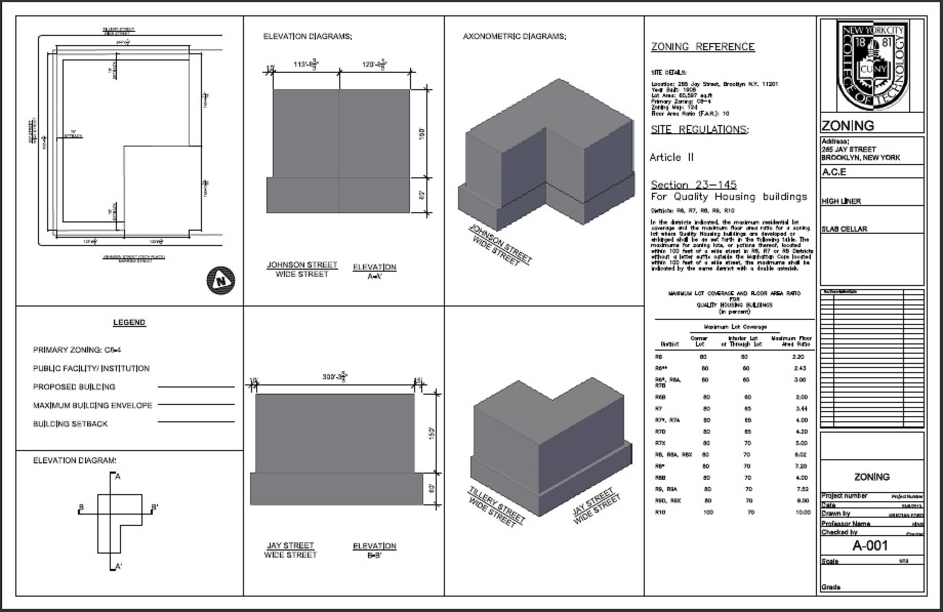 Zoning diagrams ar2330 for Architecture zoning diagram
