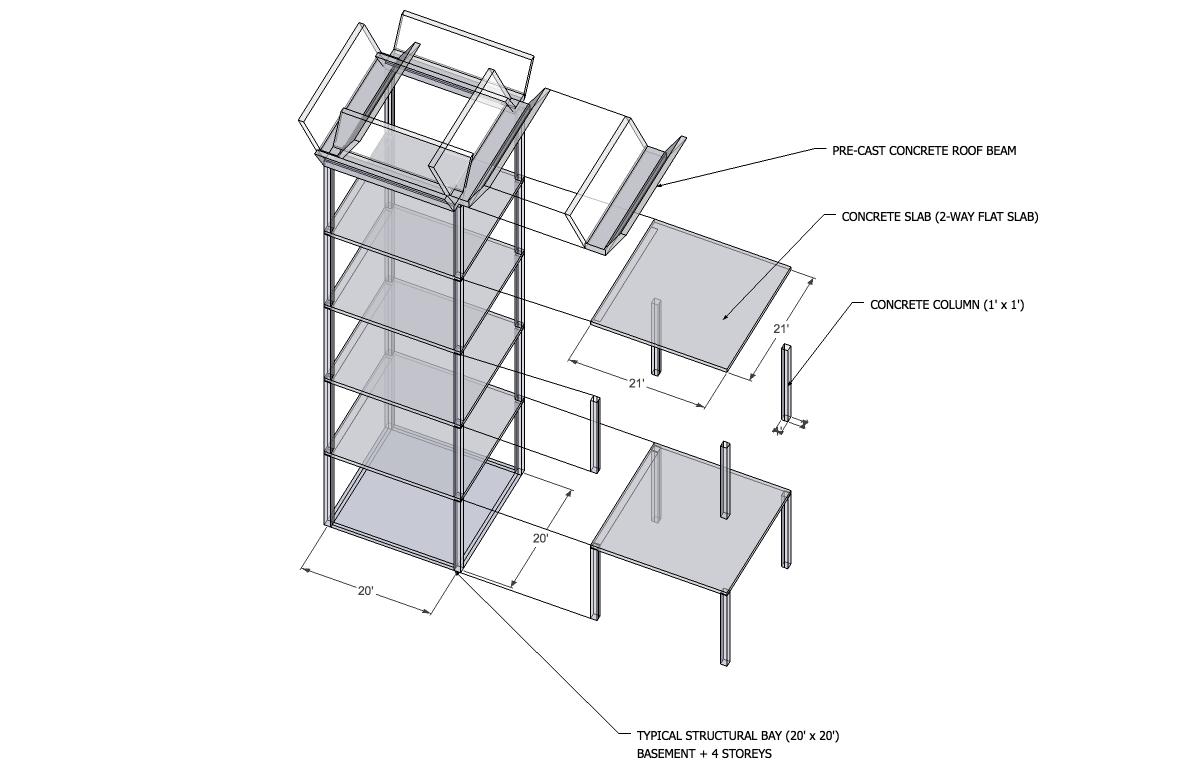 sketchup sample_structural bay_kit of parts