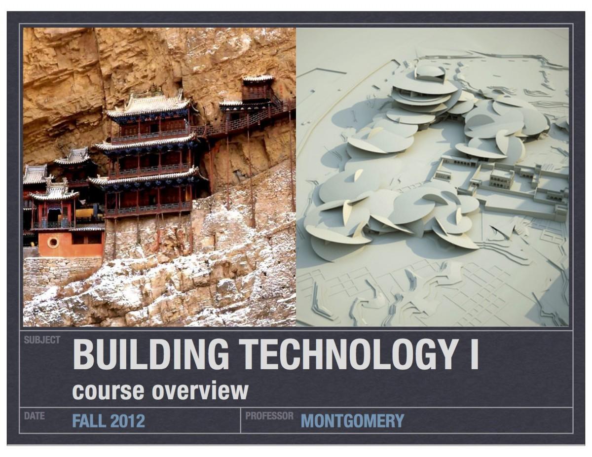 Building Tech I