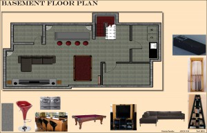 Basement Floor Plan Board 14