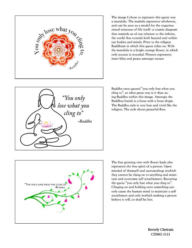 Buddha quote finished piece