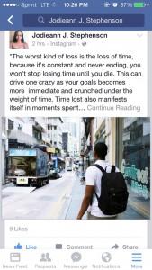Jodieann's Human of New York Facebook