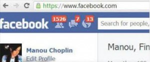 An example of facebook friend request