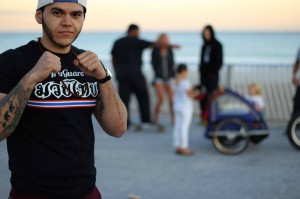 Photo was taken at Far Rockaway during a Muay Thai competition on the board walk.