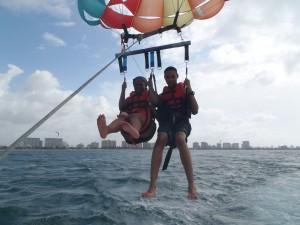 Parsailing in Puerto Rico