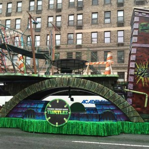 2014 Macy's Thanksgiving Parade. I worked in setting up the floats for the parade and this one was my favoite. TMNT!!!