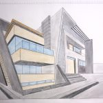 Visual Art: Anora Oblokulova - Two point perspective of House