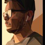 Jerry Neira - Low Poly Self-Portrait