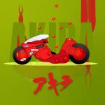 Illustration: Salome Mindiashvili - Akira Bike