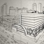 Visual Art: YiQiang Wang - Two point perspective buildings