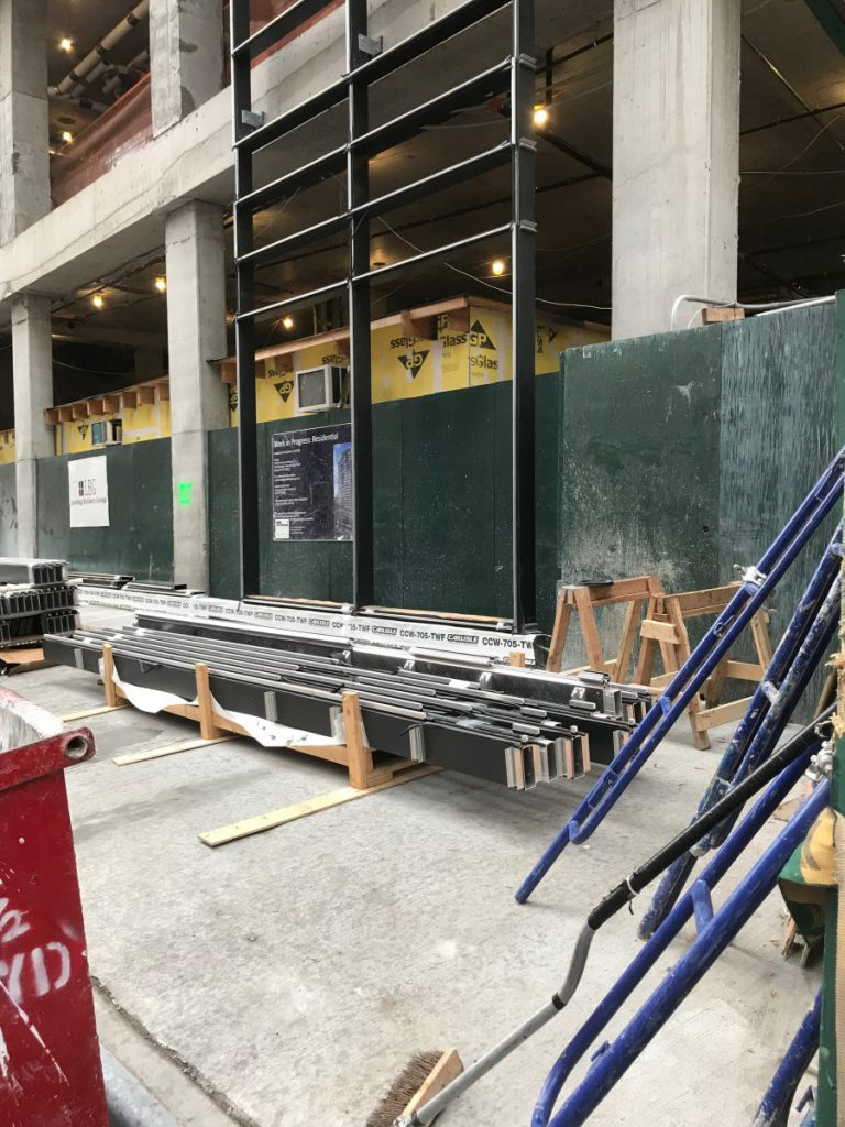 Curtainwall Installation Another Stick System Building