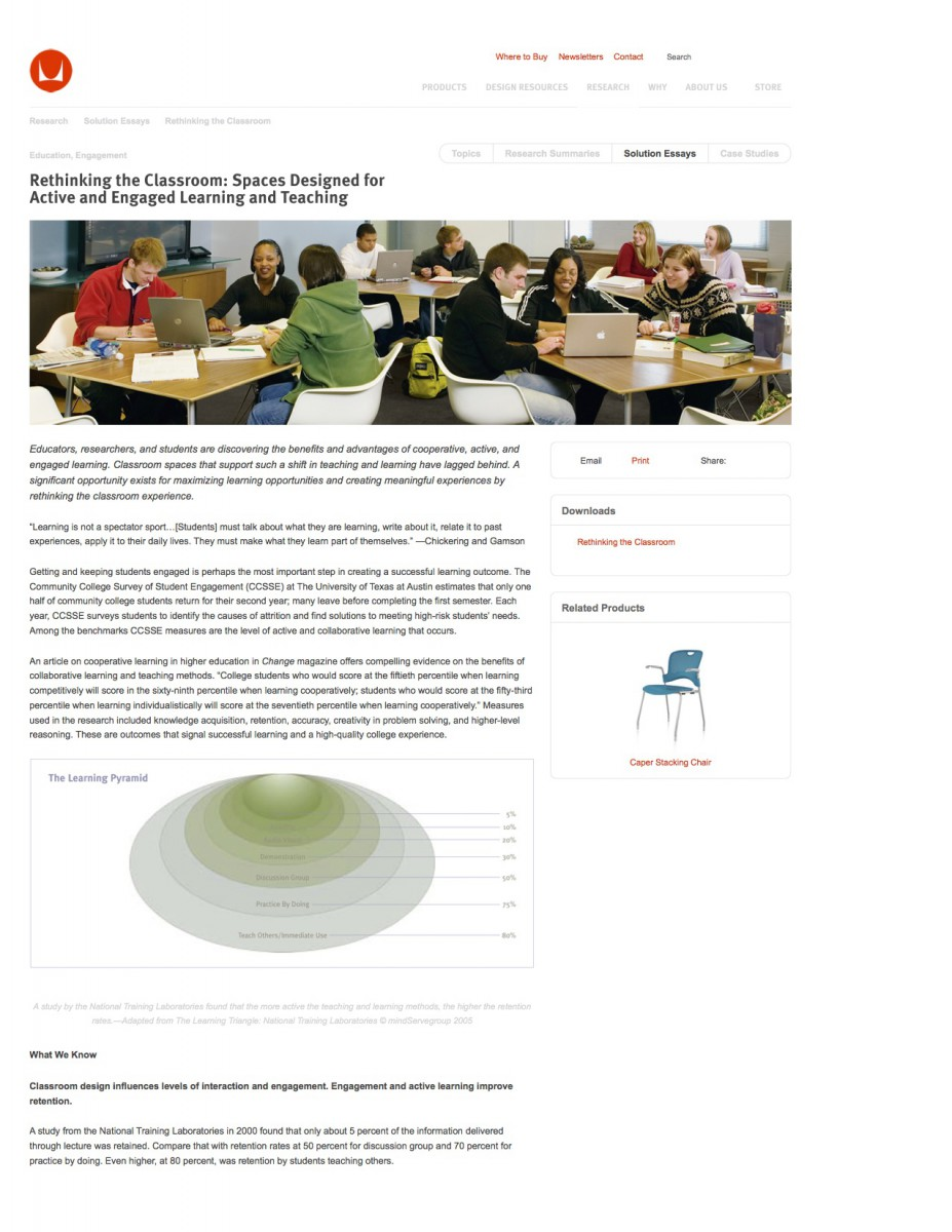 Rethinking the Classroom – Research – Herman Miller