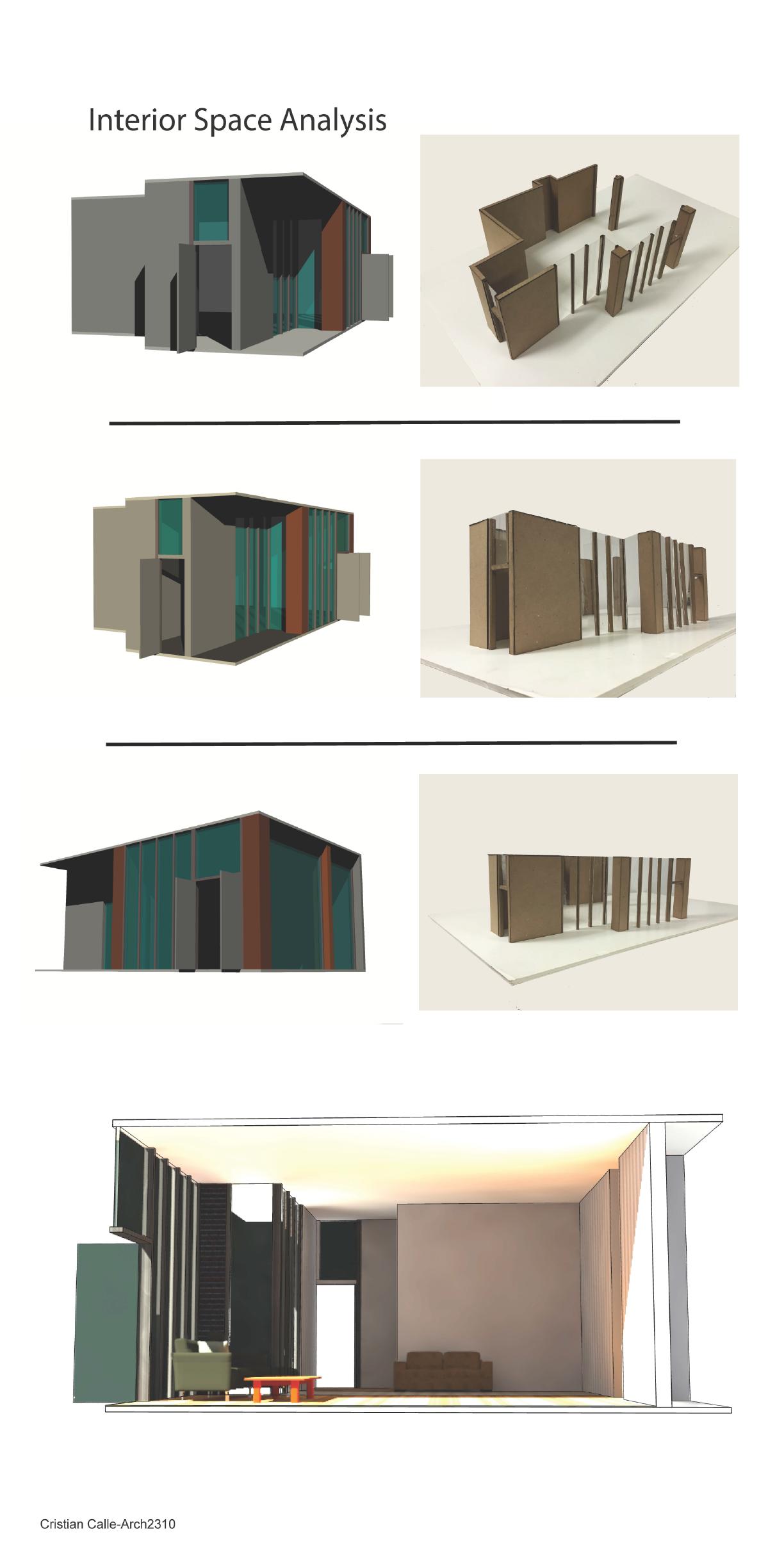 Interior Space Analysis Arch 2310 Design Iii