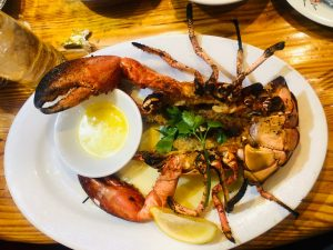 Summer food or sea food .
