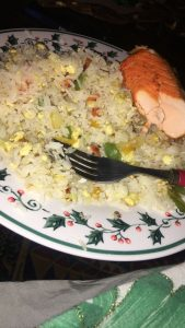 Baked Salmon and Fried Rice
