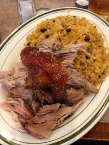 Rice with pork shoulder
