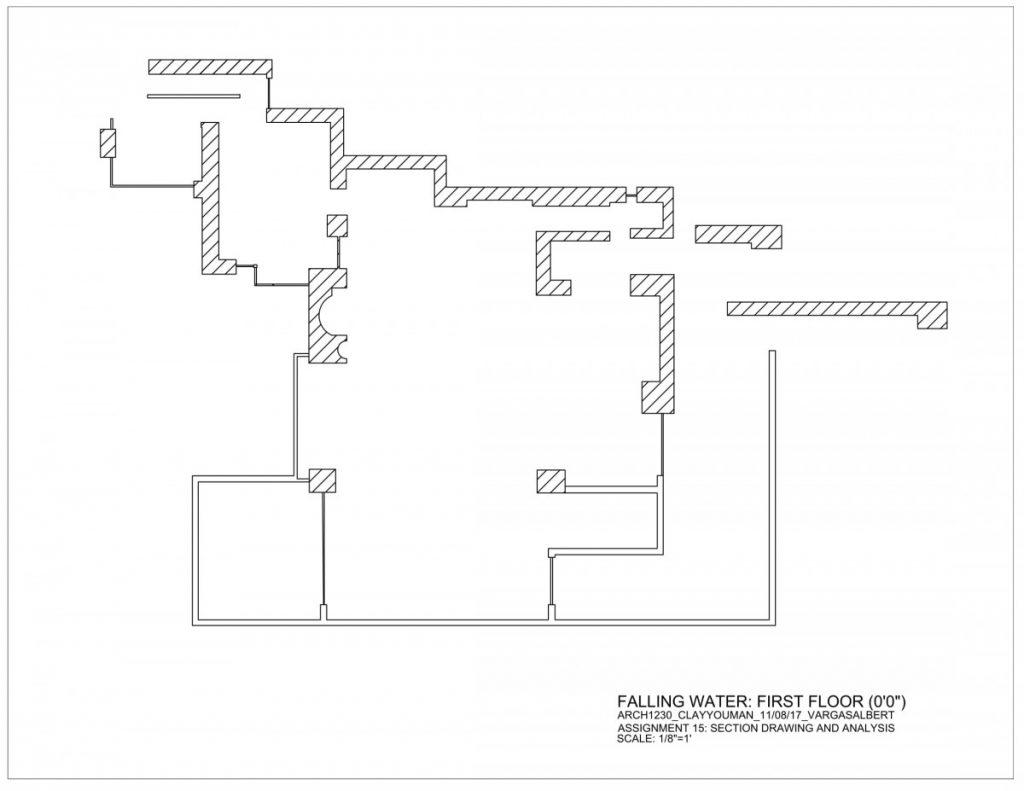 Falling Water Floor Plan Pdf Arch1230 Fa17 Clayyouman Albert Vargas Assignment15