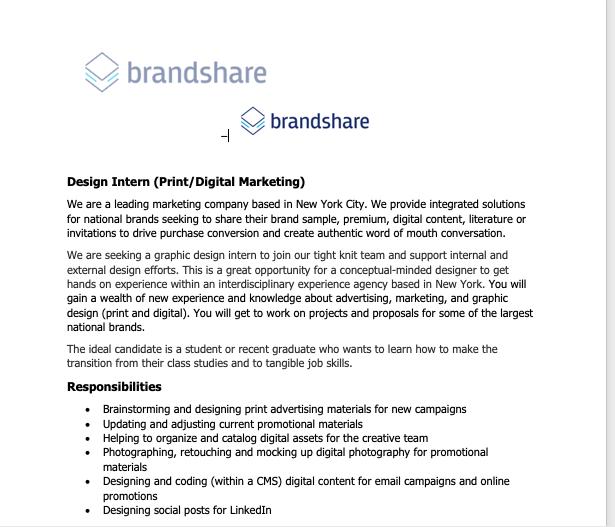 Brandshare intern