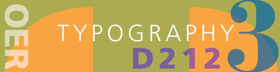 COMD2427 Typographic Design III D212   Fall18