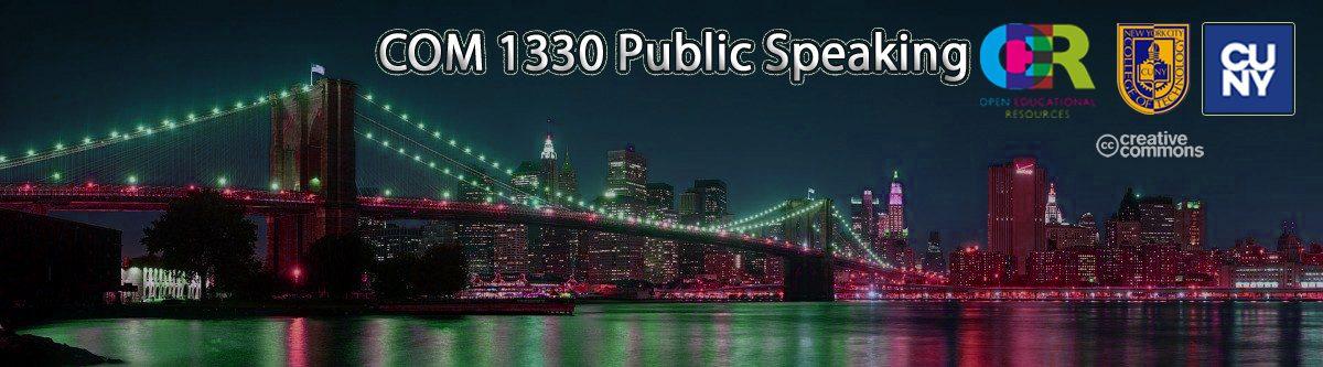 COM 1330 Public Speaking