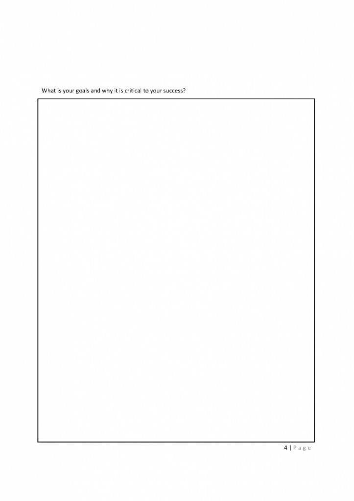 4 Define your goal Worksheet