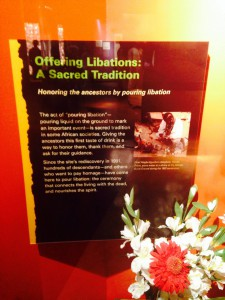 The Libations display- Photo by Derrick Richards