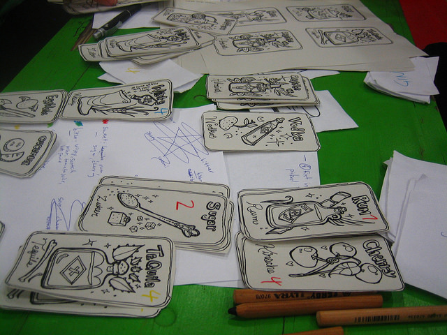 """Card Game Prototype at July Berlin Game Jam 2014"" by Iwan Gabovitch is Licensed Under CC BY 2.0"