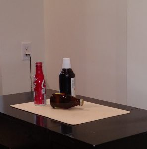 Bottle used for 2 Point Perspective & 1 Point Perspective Box Model Drawing