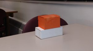 Boxes use for 2 Point Perspective sitting on top of each other