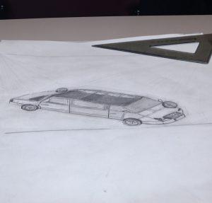 Car Paraline Drawing