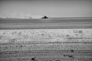 Matt Black tractor tills dry land near Tulare Lake basin