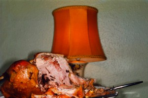 Martin Parr, Untitled (Turkey and Lamp), 1994, from the British Food series