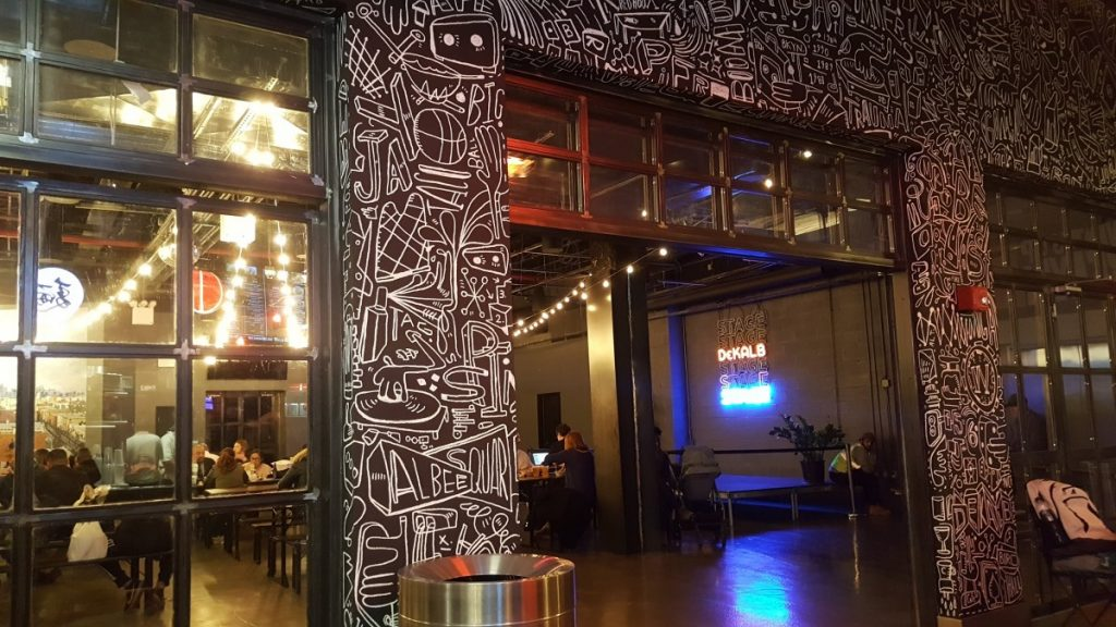 The Dekalb Market Hall and one of their seating areas - Photo credit by Laura Ng