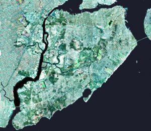Staten Island satellite view