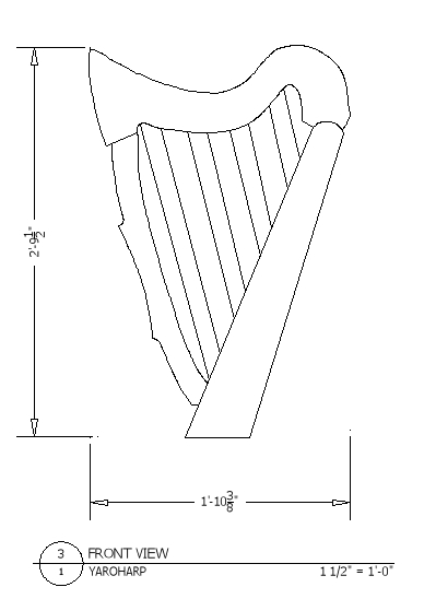 YAROHARP CAD