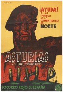 Poster, Ayunda! A Las Familias de Los Combatientes del Norte/Asturias/ Octubre-1934