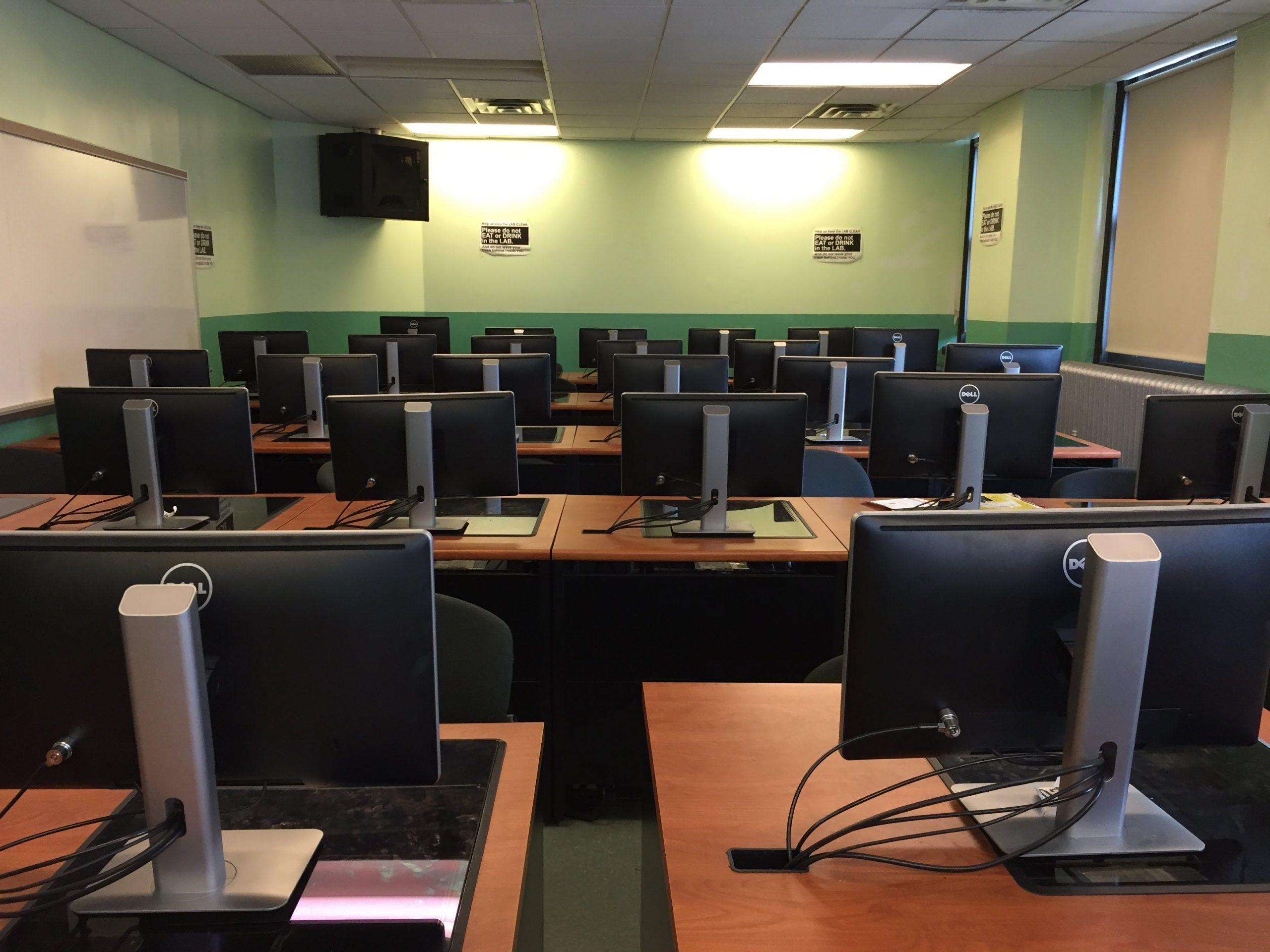 Empty Computer Classroom