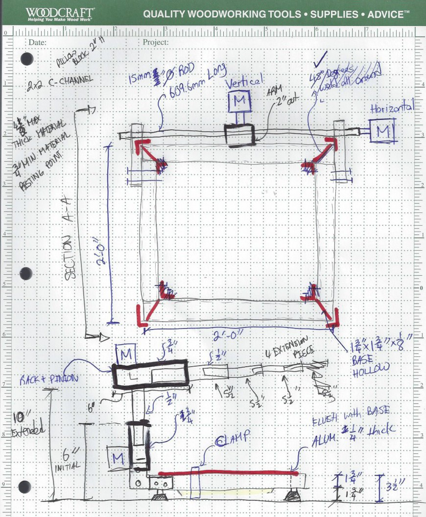 Updated Sketch of the JR CNC Router Table