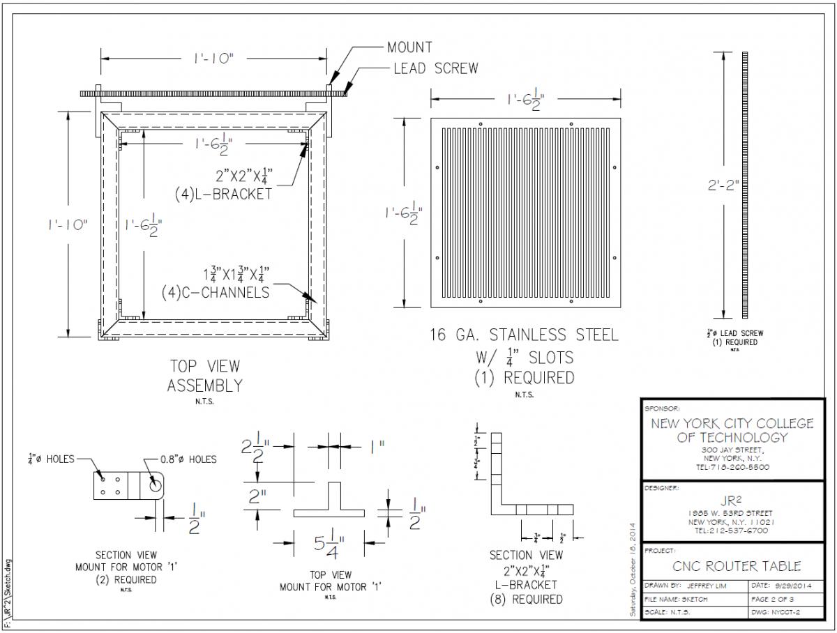 Preliminary Sketch of Important Parts