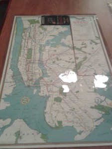 Subway map from 1940's