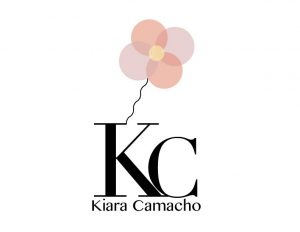 """This is my second draft of my own personal logo without the tagline. I wanted to add a piece of me into the design and not overwhelm myself and the person looking at the design. I wanted to combine two images into one for the small illustration that I did above the """"K"""" using ballons and turning them into flowers."""