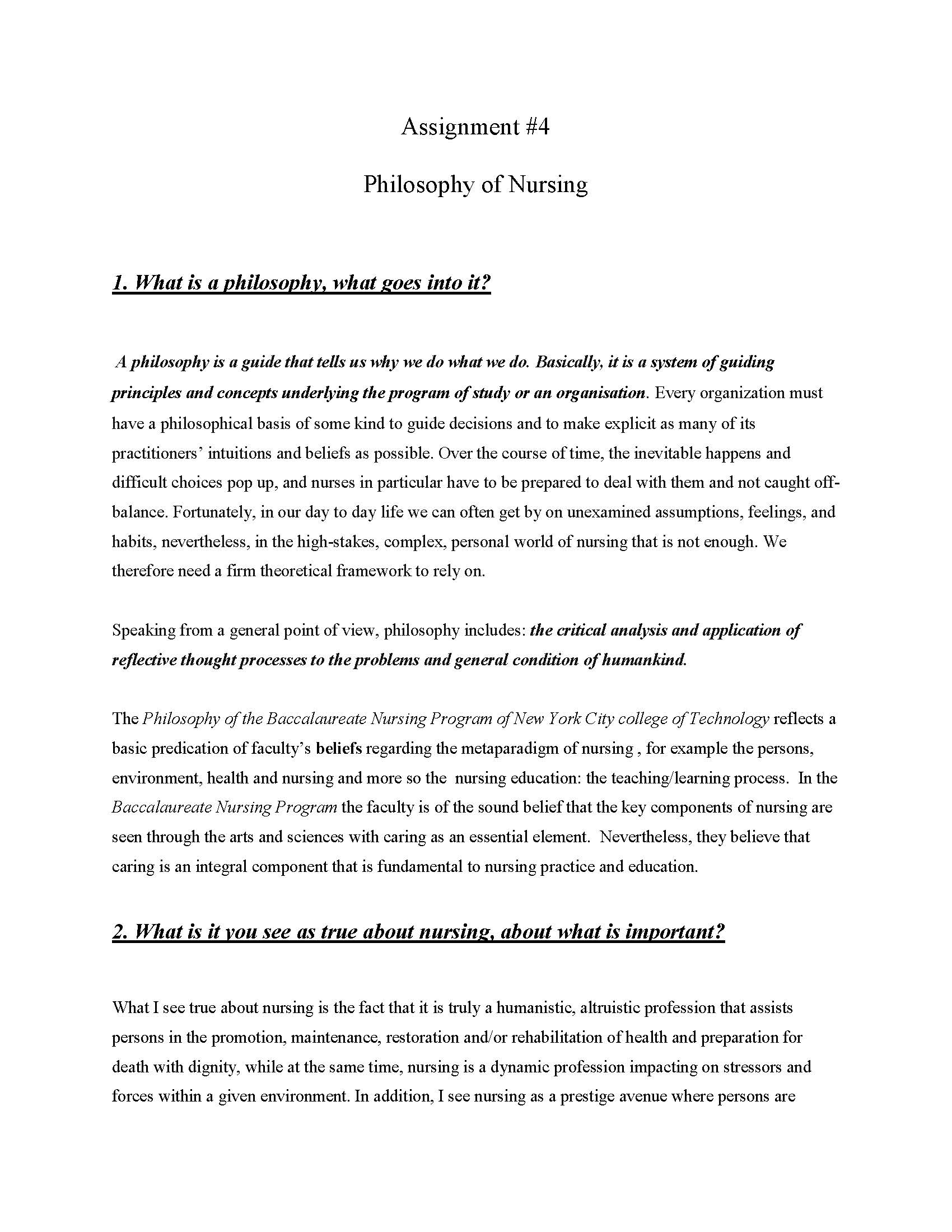 portfolio assignment This article describes a portfolio assignment that is one assessment tool in a  psychiatric mental health course the course is required for online students.
